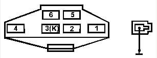 6-ти контактный и одноконтактный разъемы