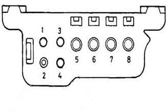 8-ми контактный прямоугольный разъем