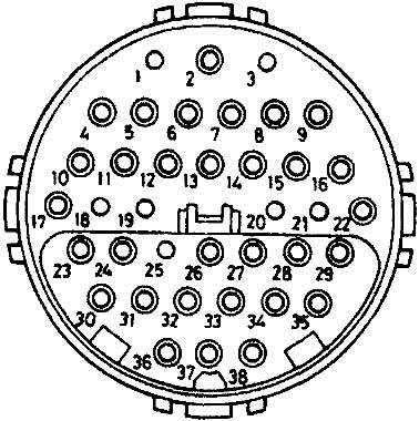 38-ми контактный круглый