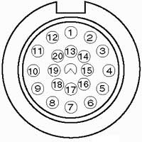20-ти контактный круглый разъем