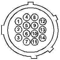 14-ти контактный круглый разъем